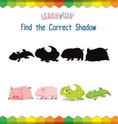 Find the correct Animals shadow vector