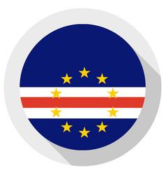 Flag cape verde round shape icon on white vector