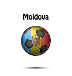 flag of moldova in the form of a soccer ball vector image