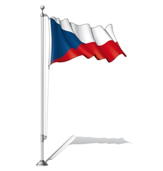 Flag Pole Czech vector image
