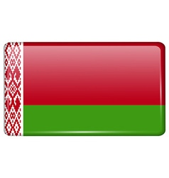Flags Belarus in the form of a magnet on vector image
