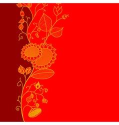 Flourish greeting card vector