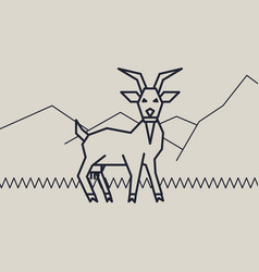 geometric of a goat vector image