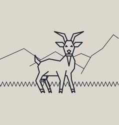 Geometric of a goat vector