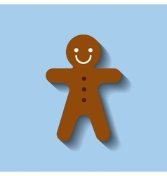 Ginger cookie sweet christmas vector