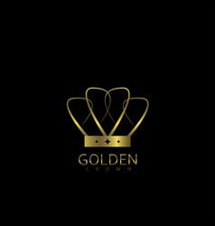 golden crown label vector image