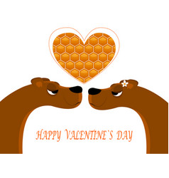 greeting card for valentine s day vector image