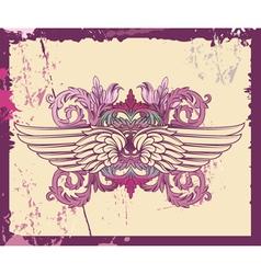 Grunge Decorative Label vector