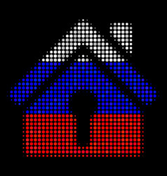 Halftone russian home keyhole icon vector