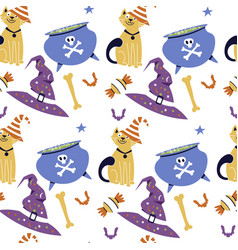 Halloween seamless pattern holiday design vector