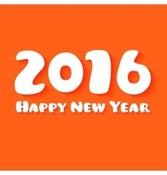 Happy New Year Paper text design on orange vector