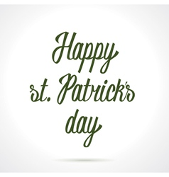 Happy st Patricks day hand lettering vector image