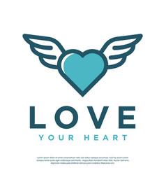Heart abstract logo vector