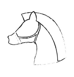Horse animal icon image vector