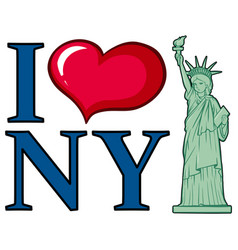 I love new york city poster design vector