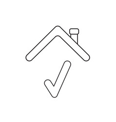 icon concept check mark under roof vector image