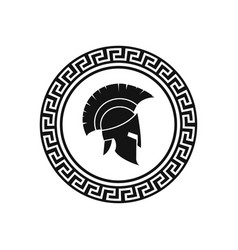 Illstration spartan helmet icon flat vector