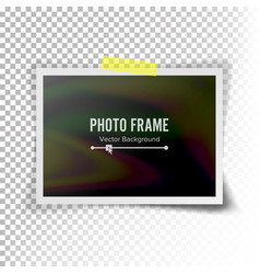 Instant photo frame photorealistic vector