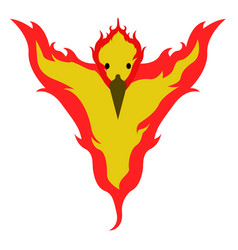 Isolated phoenix icon vector