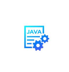 Java code icon vector