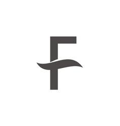letter f logo design template vector image