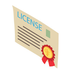 license icon isometric style vector image