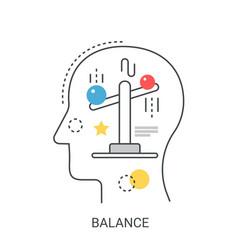 Life balance concept vector