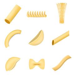 Macaroni pasta spaghetti mockup set realistic vector