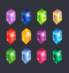 magic gems gem stones jewels diamonds gemstone vector image