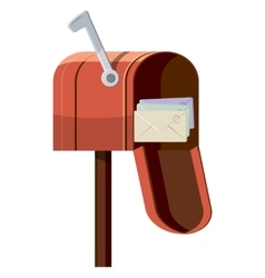 Mailbox icon cartoon style vector