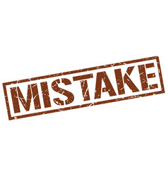 Mistake stamp vector