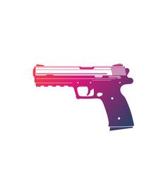 Modern pistol isolated on white vector