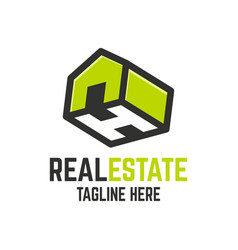 modern real estate letter h logo vector image