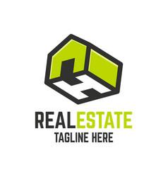 Modern real estate letter h logo vector