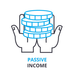 passive income concept outline icon linear sign vector image vector image