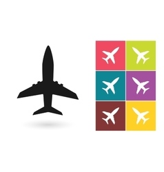 plane icon or airplane symbol vector image