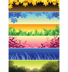 Plant banners vector
