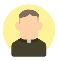 Priest icon flat style vector image