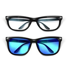 realistic eyeglasses sunglasses mockup vector image