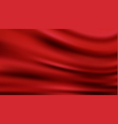 Red wavy luxury fabric background smooth shapes vector