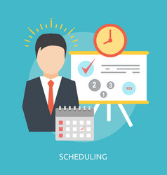 Scheduling conceptual design vector