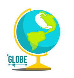 school globe icon geography earth sphere vector image