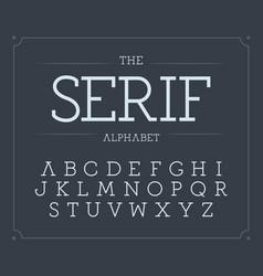 serif letters set modern latin alphabet vector image