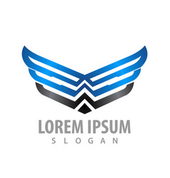 shiny wing line concept design symbol graphic vector image