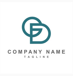 simple gd cd ed initials company logo vector image