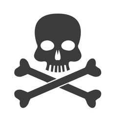 skull bones danger poison laboratory vector image