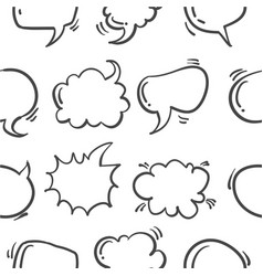 speech bubble hand draw pattern style vector image