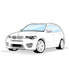Sporty car vector