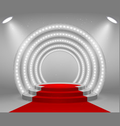 stage with lights for awards ceremony vector image