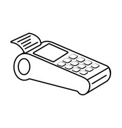 Technology work office dataphone isolated black vector